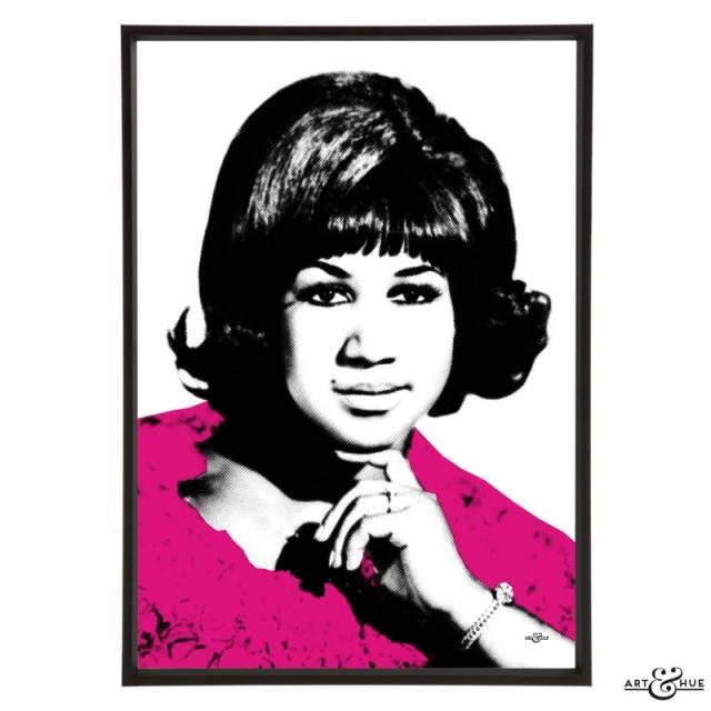Aretha Franklin stylish pop art print by Art & Hue