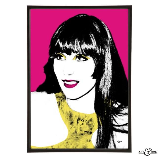 Cher stylish pop art print by Art & Hue