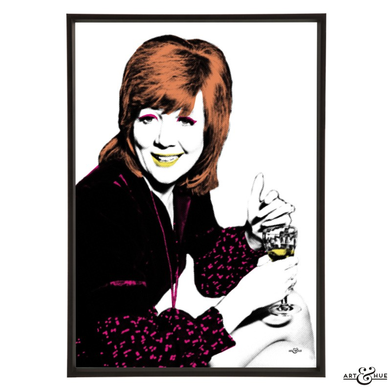 Cilla Black stylish pop art print by Art & Hue