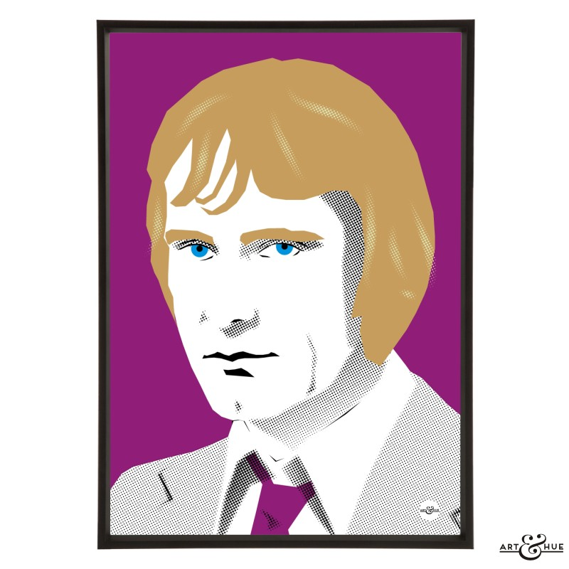 Dennis Waterman stylish pop art illustration by Art & Hue