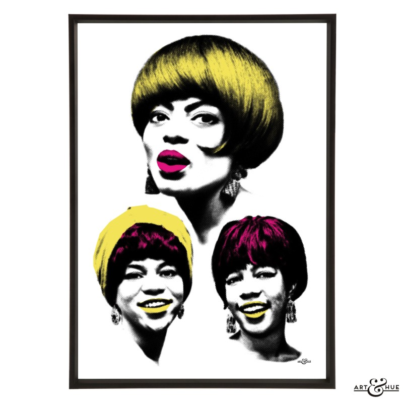 Diana Ross & The Supremes stylish pop art print by Art & Hue
