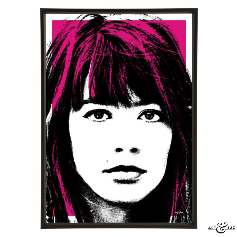 Françoise Hardy pop art print by Art & Hue