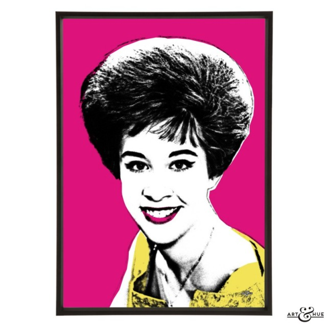 Helen Shapiro stylish pop art print by Art & Hue