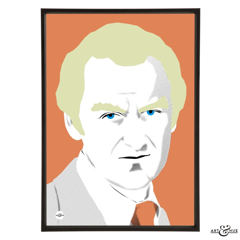 John Thaw pop art illustration by Art & Hue