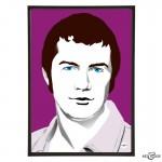 Lewis Collins pop art illustration by Art & Hue