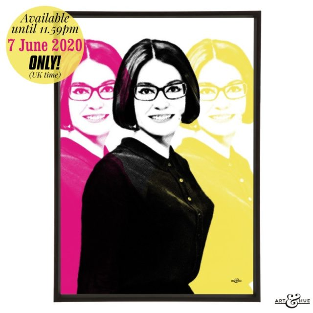 Nana Mouskouri stylish pop art print by Art & Hue