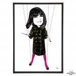 Sandie Shaw pop art print by Art & Hue