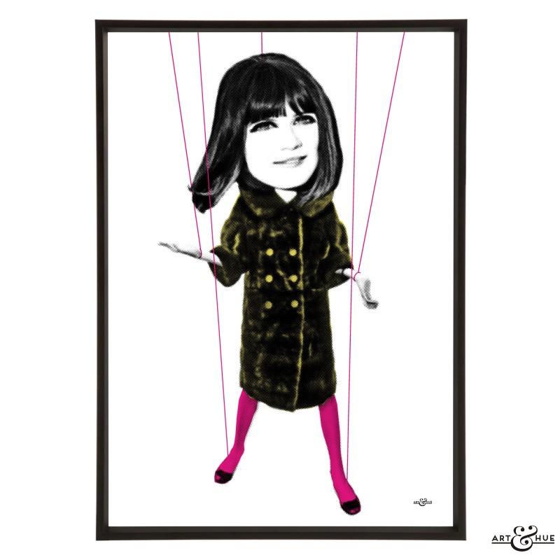 Sandie Shaw pop art print by Art & Hue