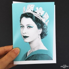 GREETING_CARD_Queen_Elizabeth_II_Aqua_Scale