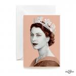 Queen Elizabeth II greeting card in Blush Pink by Art & Hue