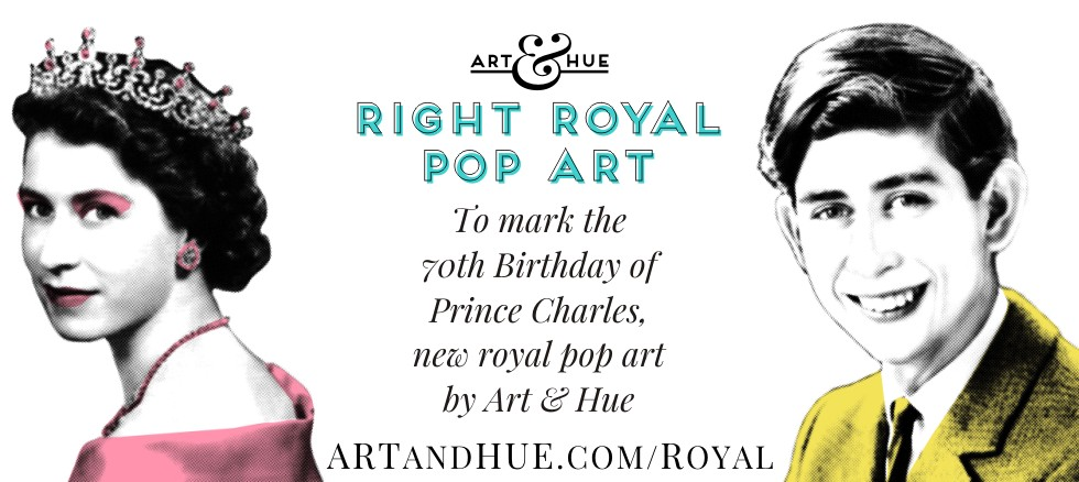 Prince Charles Pop Art Prince of Wales by Art & Hue