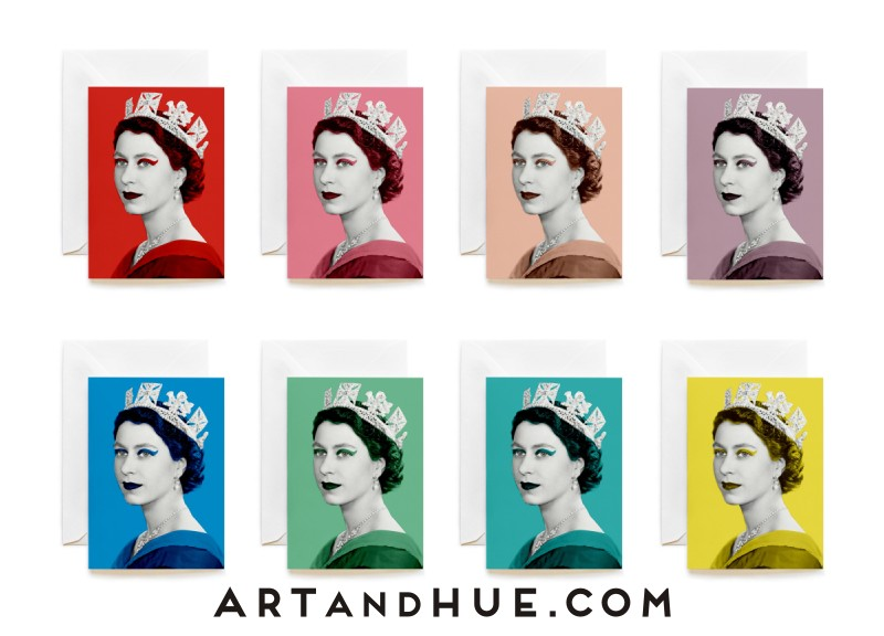 Queen Elizabeth II Group of 8 Greeting Cards
