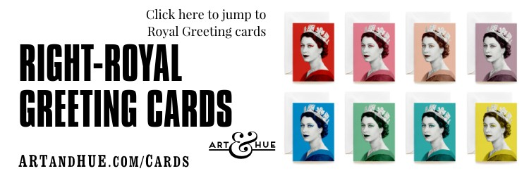 Right-Royal Greeting Cards by Art & Hue