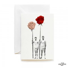 Couple of frowers - rowers holding flowers
