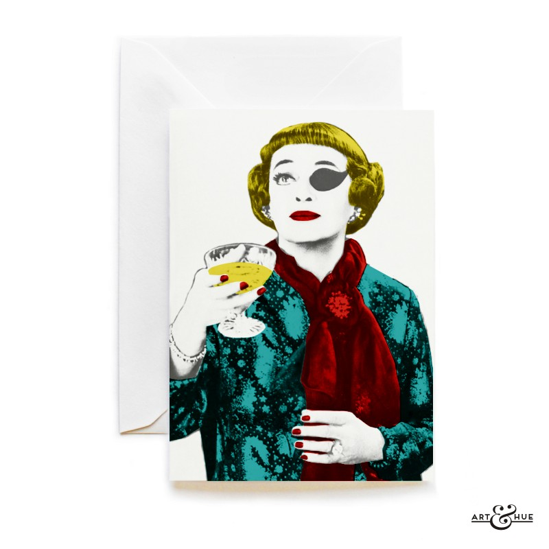 The Anniversary Greeting Card with actress Bette Davis by Art & Hue