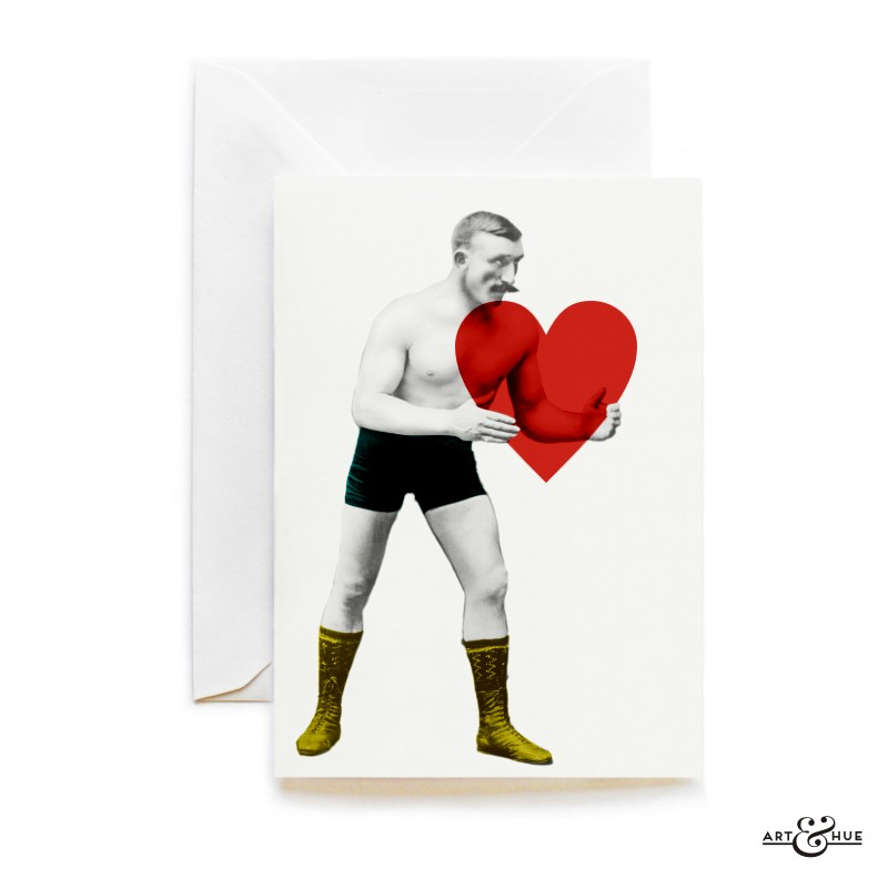 Love Strongman Heart card by Art & Hue