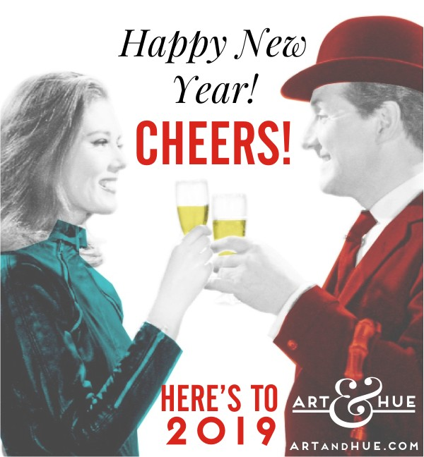 Happy New Year from Art & Hue & cheers to a wonderful 2019