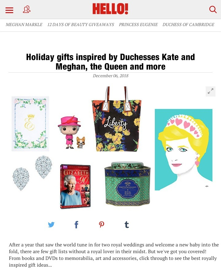 Hello Magazine Royal Gift Guide