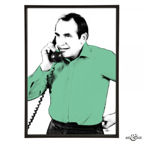 Leonard Rossiter pop art by Art & Hue