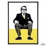 Ronnie Corbett pop art print by Art & Hue