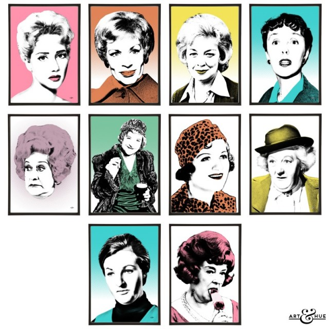 Group of 10 Funny Women Pop Art prints by Art & Hue