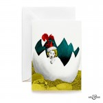 Easter Egg Greeting Card by Art & Hue