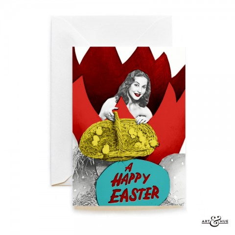 Happy Easter Greeting Card by Art & Hue