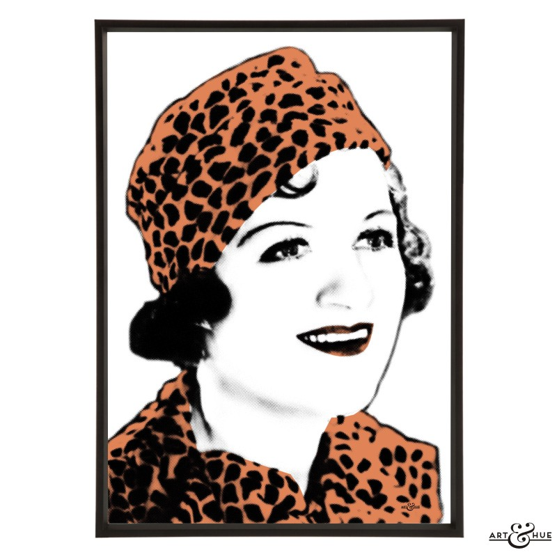 Gracie Fields pop art by Art & Hue