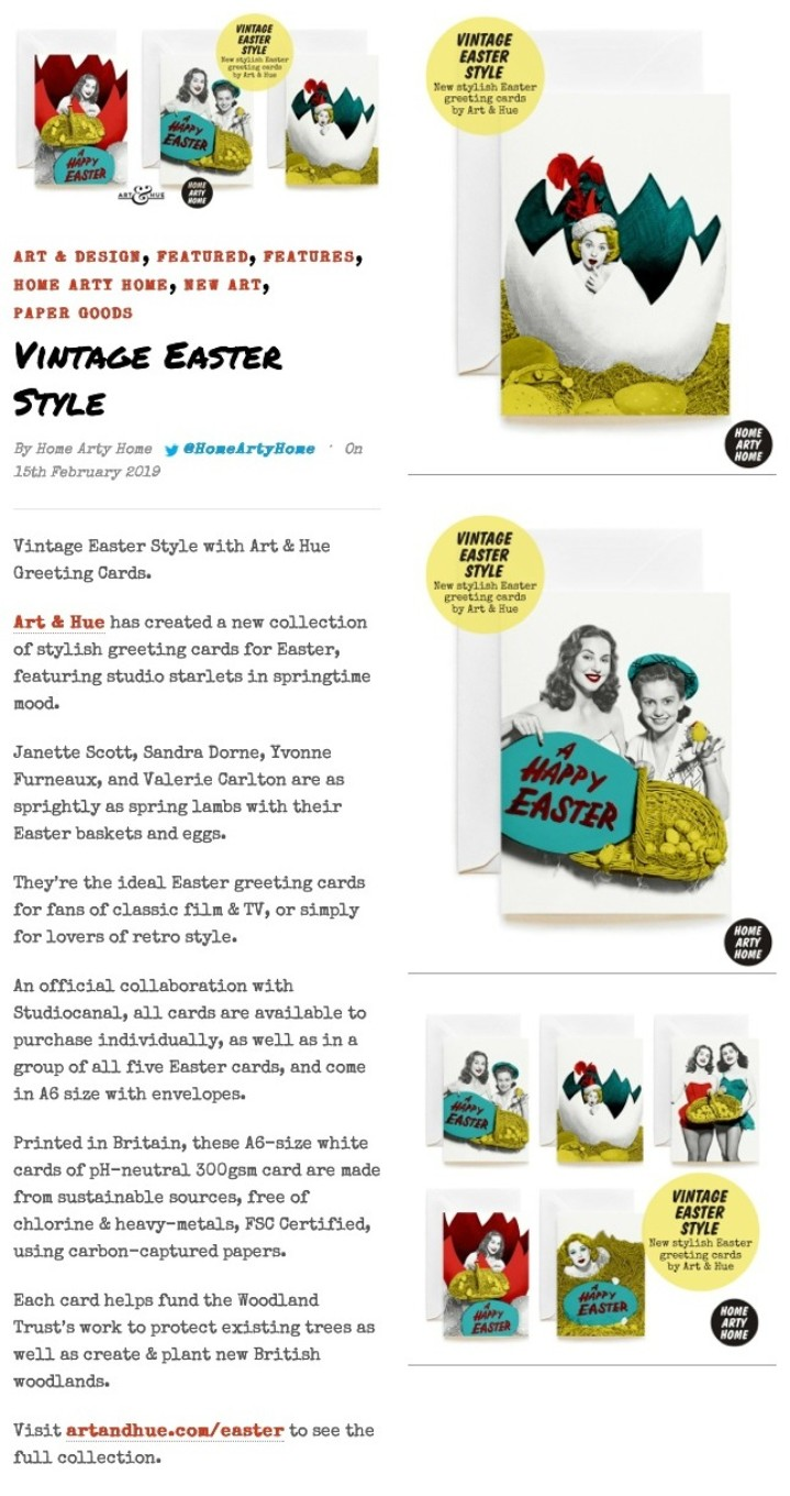 Easter Greeting Cards by Art & Hue at Home Arty Home