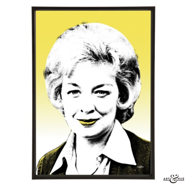June Whitfield pop art by Art & Hue