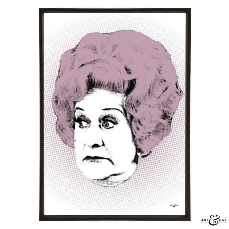 Mollie Sugden pop art by Art & Hue