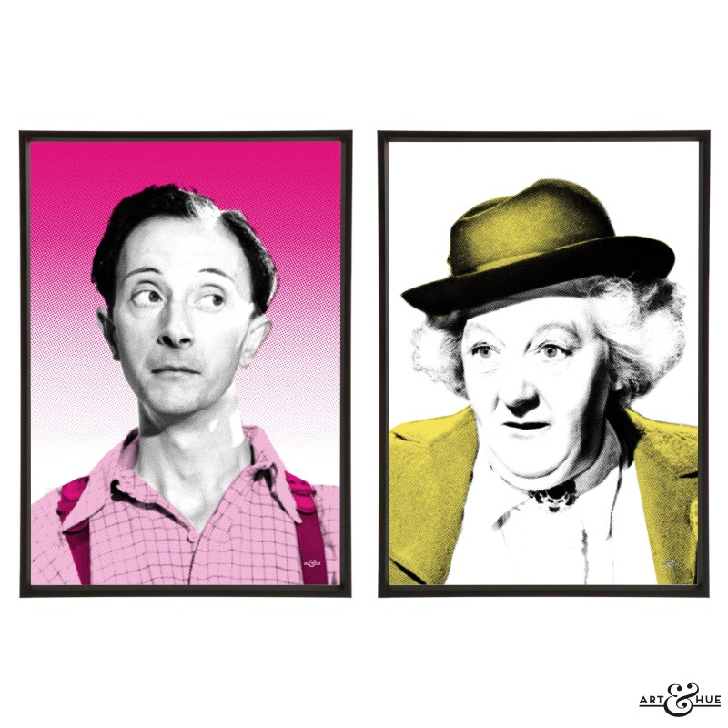 Passport to Pimlico pair of stylish pop art prints by Art & Hue