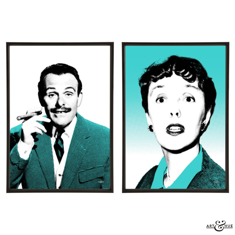 St. Trinian's Pair of pop art prints by Art & Hue