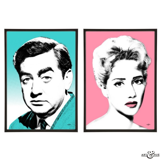 Tony Hancock & Liz Fraser prints by Art & Hue