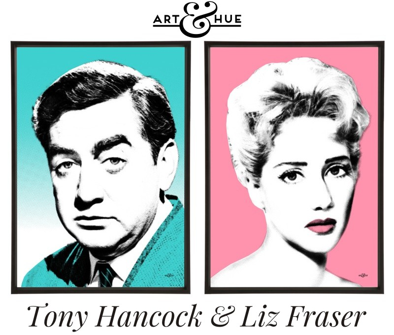 Tony Hancock & Liz Fraser prints by Art & Hue