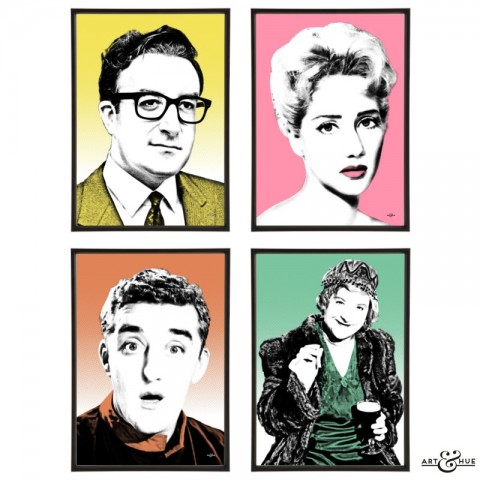 Two-Way Stretch group of pop art prints by Art & Hue