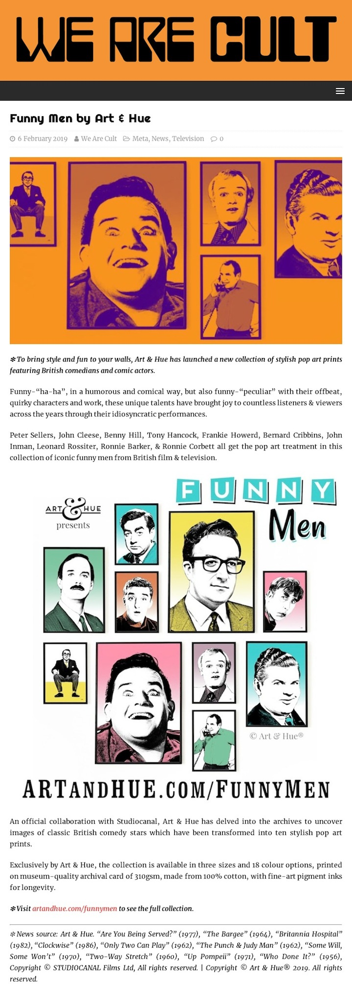 We Are Cult Funny Men