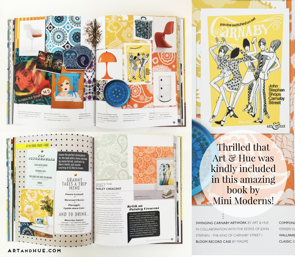 Thrilled that Art & Hue's included in the amazing Mini Moderns book!