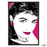 Jackie Collins pop art print by Art & Hue