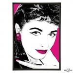 Jackie Collins pop art print by Art & Hue