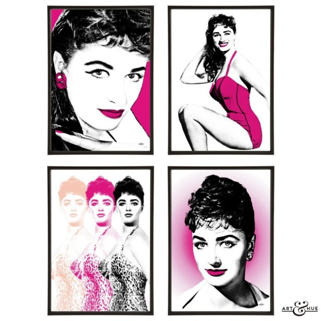 Jackie Collins group of pop art prints by Art & Hue