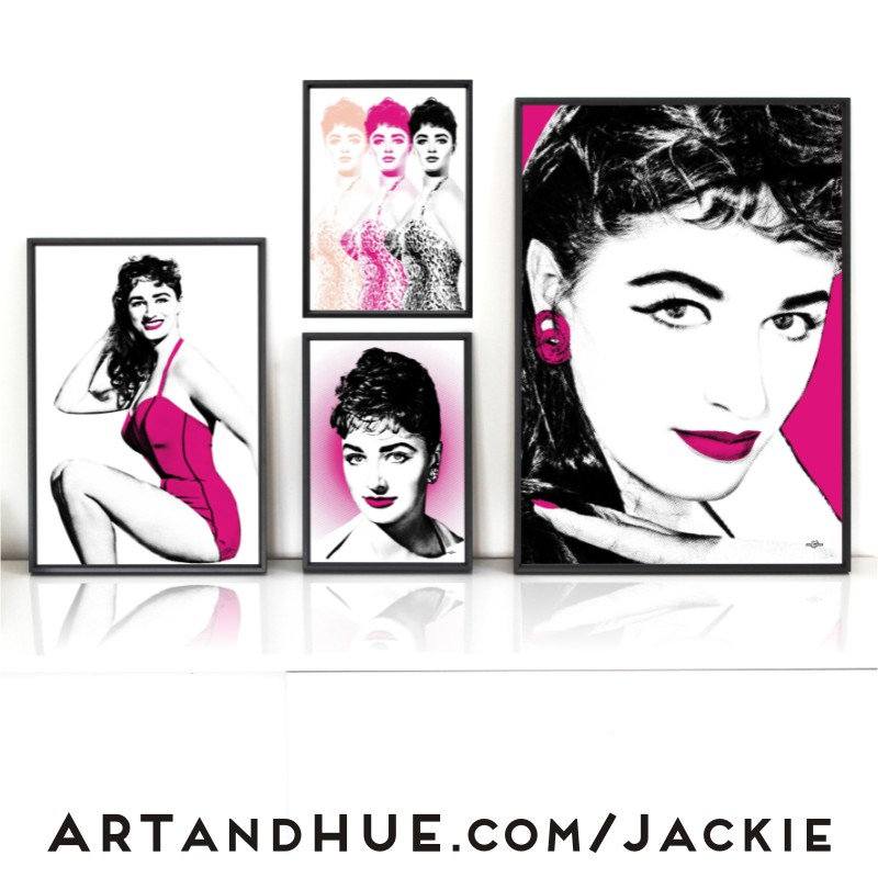 Jackie Collins pop art by Art & Hue
