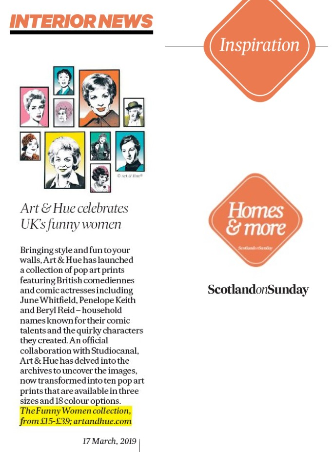 Art & Hue Funny Women pop art in Scotland On Sunday