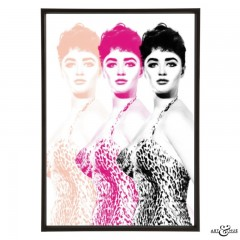 Triple Jackie pop art print by Art & Hue