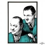 Basil Radford & Naunton Wayne pop art by Art & Hue