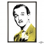 David Niven in The Love Lottery - pop art by Art & Hue Yellow