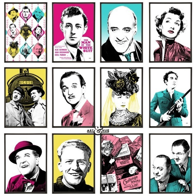Ealing Comedies Dozen Pop Art prints by Art & Hue