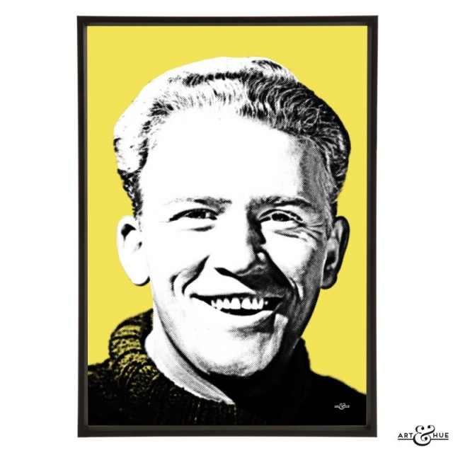Gordon Jackson in Whisky Galore pop art by Art & Hue