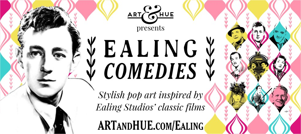 Ealing Comedies pop art print collection by Art & Hue