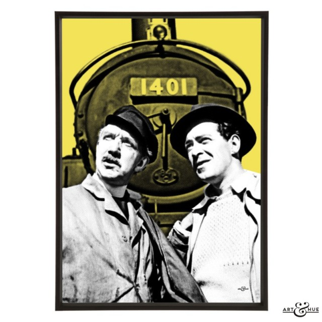 The Titfield Thunderbolt with John Gregson & George Relph - pop art by Art & Hue